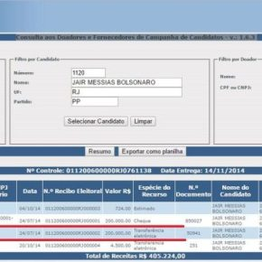 Site do TSE mostra que Bolsonaro recebeu dinheiro da JBS de JoesleyBatista