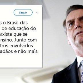 NA VÉSPERA DA POSSE, BOLSONARO DECLARA GUERRA ÀEDUCAÇÃO