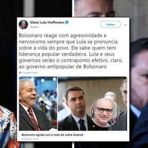 Bolsonaro teme  a verdade, por isto ataca Lula, mesmo este estandopreso!