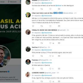 No twitter, Bolsonaro usa nome de Battisti para atacar o PT, esconder sua incompetência e não diz#CadeoQueiroz