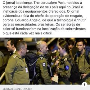 Resposta aos que atacam este Blogueiro (Sobre israelenses emBrumadinho)