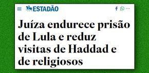 O exercício da maldade: Agora proíbem Lula de receber liderançasreligiosas