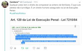 Proibição de Lula ir a velório de irmão mostra que avança a instalação de uma Ditadura judicial/militar