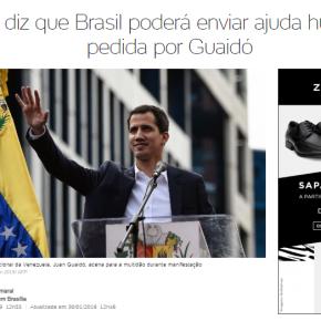 """Governo Prepara Guerra contra a Venezuela: Mourão fala em """"ajudar humanitária"""" a oposição daVenezuela"""