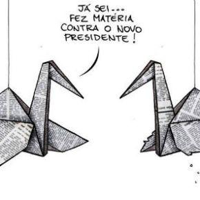 Imprensa no curral: a 1ª manhã de Bolsonaro. E é Miriam Leitão quemdiz