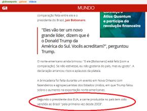 Trump comemora um dos resultado da Lava Jato: Americanos voltam a vender carne ao Brasil depois de 15anos