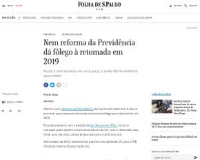 Reforma da Previdência não serve pro povo, só pra dar mais lucro aos bancos, confessa Folha de SãoPaulo