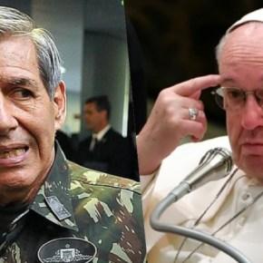 """Guerra Santa?? Generais querem """"neutralizar"""" as ações do Papa e calar a Igreja Católica noBrasil"""