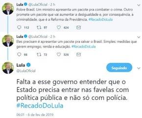 GUEDES CRIA POBRES E MORO CUIDA DE MATÁ-LOS, DIZ LULA EM SEUTWITTER