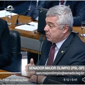 Em vídeo, Major Olimpio confirma o que a gente já sabe: Este governo é umaesculhambação