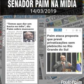 Paim ataca proposta que prevê privatizações sem plebiscito no Rio Grande doSul