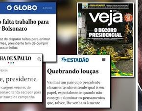 Midia quer largar Bolsonaro pelo meio do caminho. Não mesmo! Que embalem o que  chocaram e esperem a próximaeleição