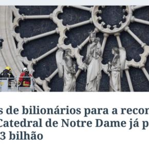 """""""Será que bilionários brasileiros se mobilizarão para reconstruir o Museu Nacional?"""", perguntaHaddad"""