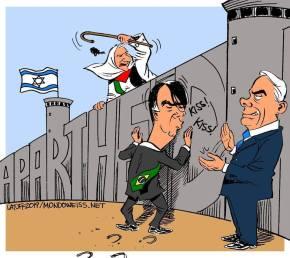 Latuff desenha a vergonha que Bolsonaro faz o Brasilpassar