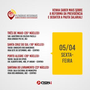 CPERS mobiliza categoria para a luta salarial e contra a Reforma daPrevidência