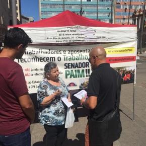 Gabinete Móvel do Senador Paulo Paim volta ao Largo Glênio Peres naQuinta-Feira