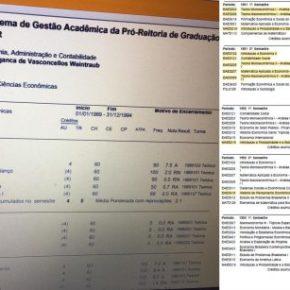"""""""Balburdia"""" mesmo é o histórico universitário do Ministro da Educação, com váriasreprovações"""