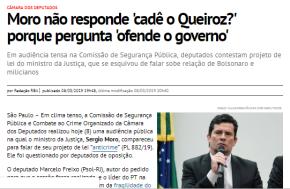 #CadeoQueiroz MORO E BOLSONARO DERROTADOS: COAF VOLTA PRAECONOMIA
