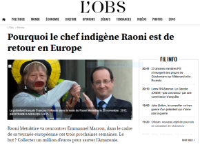 Por que o líder indígena Raoni está de volta à Europa? (LeObservateur)