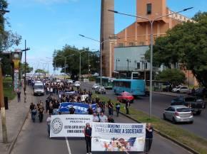 Policiais se mobilizam em Porto Alegre contra a Reforma da Previdência(vídeo)