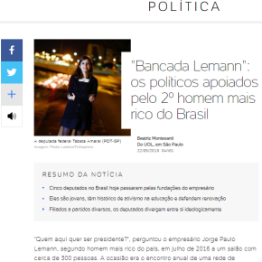 """Bancada Lemann: """"Todos pela educação"""" mas todos contra a aposentadoria dos trabalhadores e dopovo"""
