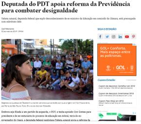 """Tabata Amaral apóia Reforma da Previdência e diz que Guaidó é """"legitimo"""" Presidente daVenezuela"""
