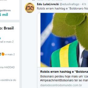 """Robôs erram hashtag e """"Boldonaro Nosso Presidente"""" vira piada nasredes"""