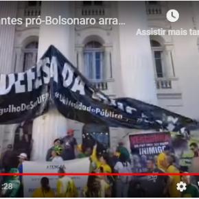 No Paraná, manifestantes bolsonaristas arrancam faixa em Defesa da Educação(vídeo)