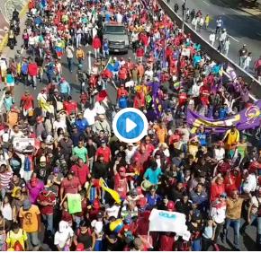 Venezuela: Vídeo irrefutável mostra apoio de Trabalhadores a Maduro e a RevoluçãoBolivariana