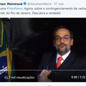 Em vídeo bizarro, Ministro da educação zomba de Reitor  da UFRJ e mentedescaradamente
