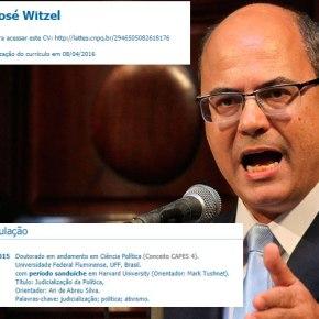 Vergonha: Witzel nunca pisou em Harvard e perdeu Pós doutorado em NovaBréscia