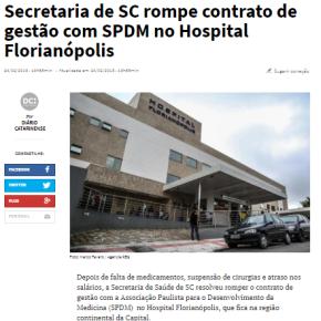EMPRESA SELECIONADA POR MARCHEZAN PARA A SAÚDE, FOI BANIDA DE SANTACATARINA