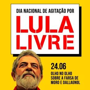 Comitês Lula Livre preparam Dia Nacional de Agitação e panfletagem (Dia 24/06 -2ªfeira)
