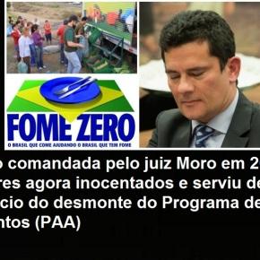 Moro ajudou a destruir programa para agricultura familiar a partir de uma operação noParaná