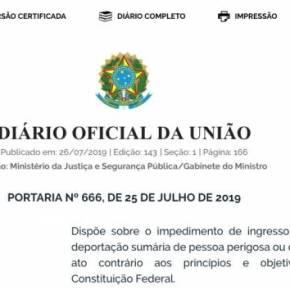 Com Portaria 666, Moro aposta na ditadura e expulsa a democracia pela porta detrás