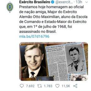 """EXÉRCITO HOMEGEIA OFICIAL NAZISTA E CHAMA ALEMANHA DE HITLER DE """"NAÇÃOAMIGA"""""""