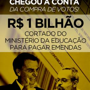 Guedes usa R$ 1 bi da Educação pra comprar Deputados a votar contra a aposentadoria e a Previdência do povo! Corrupção nocomando!