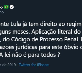 Não tem que transferir Lula para São Paulo. Tem que soltar, diz Flavio Dino. Esta na Lei!#LulaLivre