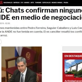 ITAIPU: PARAGUAI DIVULGA CONVERSAS QUE COLOCAM ITAMARATY EMXEQUE