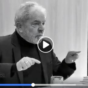 Quem deveria estar aqui preso no meu lugar são o Moro e o Dallagnol, diz Lula(Vídeo)