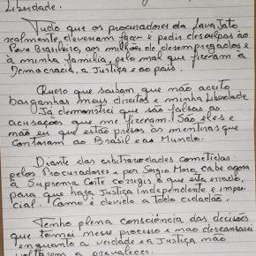 """Em carta ao povo, Lula responde à Lava Jato: """"Não aceito barganhar meus direitos e minhaliberdade."""""""