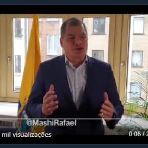 Ex-presidente Rafael Correa pede renúncia de Lenín Moreno e eleições antecipadas noEquador