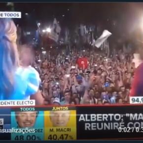 """Emocionante: Vídeo mostra Alberto Fernandez e o povo Argentino gritando """"LulaLivre"""""""