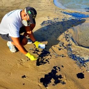 Verdadeira origem? Pesquisa de laboratório indica grande vazamento de petróleo abaixo da superfície do mar, ao sul daBahia