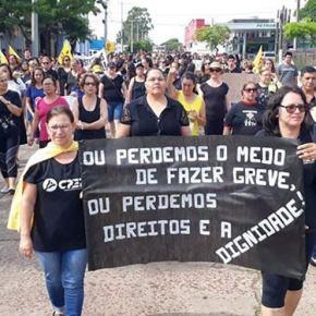 Greve dos professores no Rio Grande do Sul esta se transformando na maior dahistória