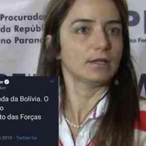 Procuradora da Lava Jato comemora golpe militar na Bolívia e desmoraliza oMP