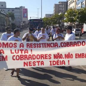 Mobilização de Rodoviários contra demissão de 3.600 cobradores provoca Mega Congestionamento em Porto Alegre (Vídeo efotos)