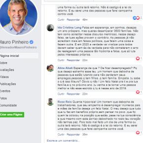 Vereador de Porto Alegre é escrachado e chamado de Hipócrita por seguidores em sua própria redesocial