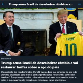 Dólar e Sobretaxas americanas: Enquanto Guedes rouba nosso dinheiro, Bolsonaro lambe botas e Trump nosferra