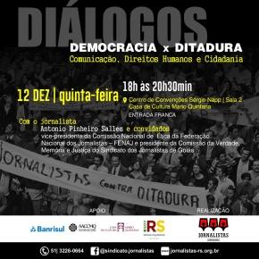 Sindjors reúne ex-presos políticos para debater democracia x ditadura em PortoAlegre